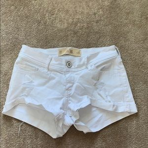 Hollister Low Rise Short Distressed Jean Shorts